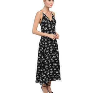 New $348 Rebecca Minkoff S 6 black maxi dress flor